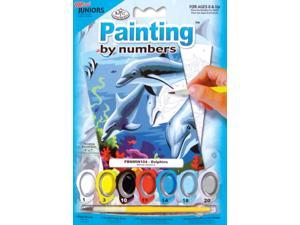 "Mini Paint By Number Kit 5""X7""-Dolphins/Junior"