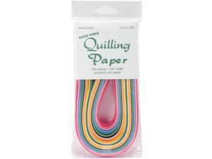 """Quilling Paper 3/8"""" 100/Pkg-25 Colors"""