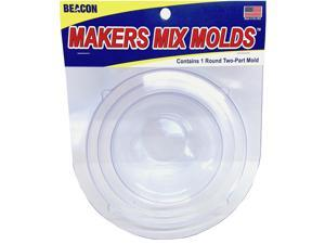 Makers-Mix Stepping Stone Mold 2/Pkg-Round