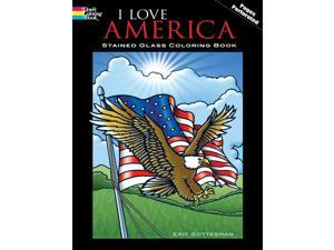 Dover Publications-I Love America Stained Glass Clr Bk