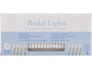 Bridal Lights 50 Count 17.5 Feet-Clear Bulbs W/White Wire