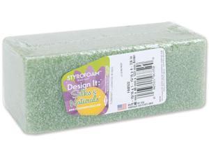 "Styrofoam Block Arranger 1-7/8""X1-7/8""X4-7/8"" 1/Pkg-Green"