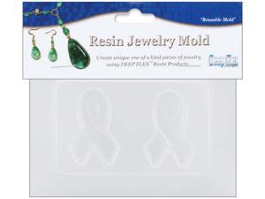 """Resin Jewelry Reusable Plastic Mold 3.5""""X4.5""""-2 Small Ribbons"""