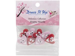 Dress It Up Embellishments-Happy Hearts