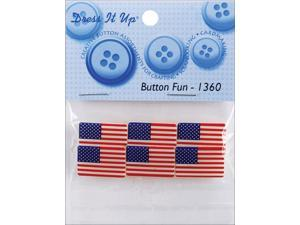 Dress It Up Embellishments-Button Fun Flags