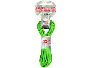 Parachute Cord 3mm 21 Feet/Pkg-Neon Green