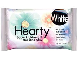 Hearty Super Lightweight Air Dry Clay 1.75 Ounces-White