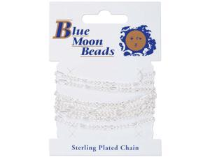 "Blue Moon Figaro Chain 42""-Silver"