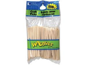 "Woodsies Craft Picks-Natural 3.5"" 250/Pkg"