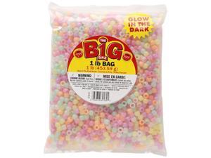 Glow In The Dark Pony Beads 9Mm 1Lb Bag-Assorted Glow