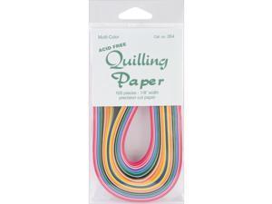 """Quilling Paper .125"""" 100/Pkg-25 Color Assortment"""