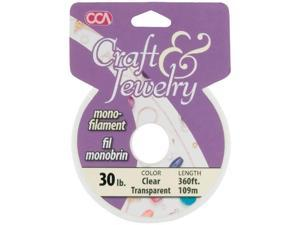 Craft & Jewelry Monofilament Cord #30 300 Feet/Pkg-Clear