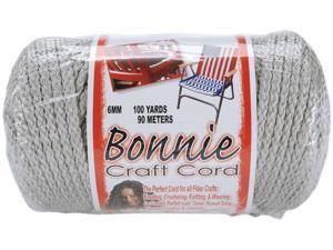Bonnie Macrame Craft Cord 6mm 100 Yards-Shadow Gray