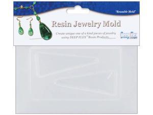 """Resin Jewelry Reusable Plastic Mold 3.5""""X4.5""""-Triangle"""