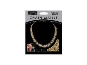 """Chain Maille Jewelry Kit-18"""" European 4-in-1 Necklace-Gold & Silv"""