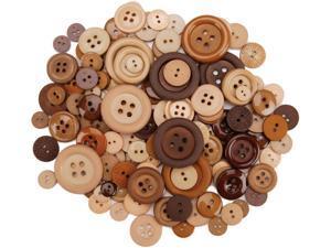 Dress It Up Button Super Value Packs-Biscotti
