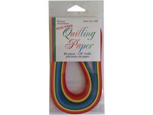 "Quilling Paper .125"" 80/Pkg-Primary (5 Colors)"