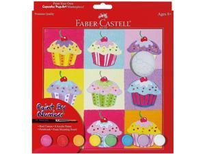 """Paint By Number Kit 9""""X9""""-Cupcake Pop-Art W/Acrylic Paint Pots"""
