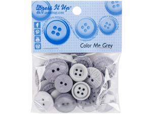 Dress It Up Embellishments-Color Me Grey