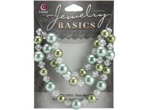 Jewelry Basics Pearl/Crystal Mix 8mm/10mm 51/Pkg-Mint