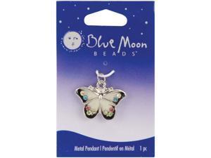 Blue Moon Metal Pendant 1/Pkg-Butterfly