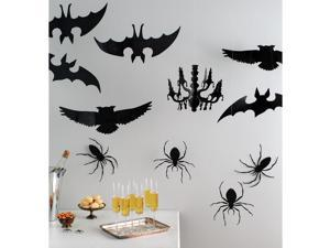 Icon Hanging Silhouettes 12/Pkg-Spooky Night