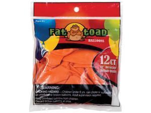 "Fat Toad Balloons Round 12"" 12/Pkg-Sunburst Orange"
