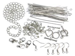 Jewelry Basics Metal Findings 134/Pkg-Silver Starter Pack