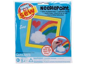 "Sew Cute! Rainbow Needlepoint Kit-6""X6"" Stitched In Yarn"
