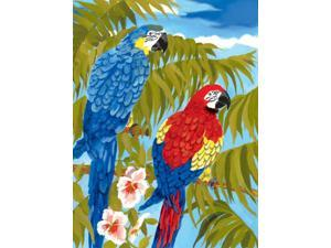 "Junior Small Paint By Number Kit 8.75""X11.75""-Parrots"