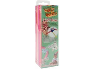 "Wacky Whirly Craft Straws 7.75"" 100/Pkg-Assorted Colors"
