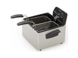 05466 Steel Deep Fryer Dual Basket