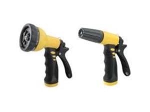 9-Pattern/3-Way Nozzle 2Pk TOOLBASIX Hose Nozzles GN43451+GN1945 Yellow/Black