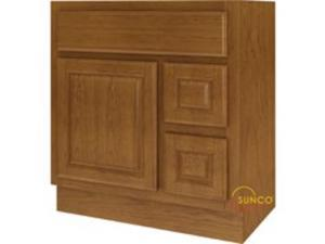 30X18 1 Door 2 Drawer Vanity SUNCO INC. Rta/Unassembled VDR3018RRT 028645196216