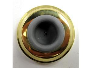 Brainerd Solid Brass Concave Wall Doorstop 47989 Brainerd 47989 022788479892