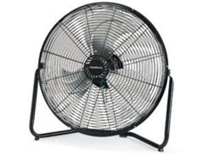 Homebasix LF-20 Floor Fan Hi Velocity 20-inch Black 3-Speed