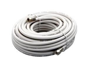 Cbl Coaxial 50Ft Wht PVC Rg6 AMERICAN TACK TV Wire and Cable VG105006W White PVC