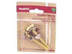 5/16X2-1/4 Brass Closet Bolt PLUMB PAK Toilet Bolts & Washers PP835-170