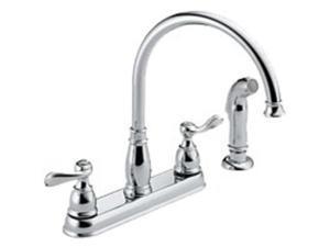 Two Handle Kitchen Faucet DELTA FAUCET CO Delta Kitchen Double Handle 21996LF