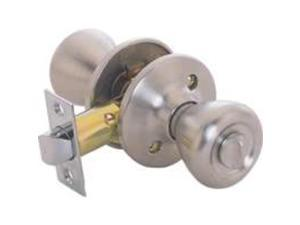 Toolbasix 5764SS-BK-3L Privacy Door Knob, Stainless Steel