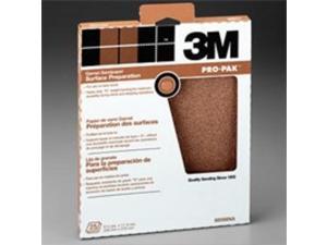 3M 99411 9X11 Garnet 220-Amp Sandpaper Surface Preparation - Pack Of 25