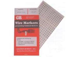 Booklet Markers Wire GB-GARDNER BENDER Cord Ends-Male 110v 42-035 032076420352