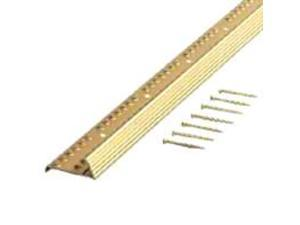 Md Products 79053 1-3/8 inch X 36 inch Satin Brass Fluted Carpet Gripper Teeth F