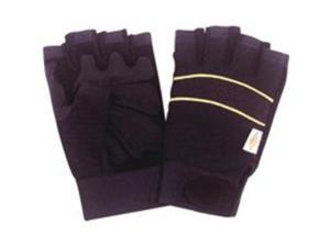 Diamondback BLT-0508-4-L Fingerless Leather Working Gloves - Large