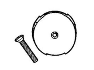 Face Plate 1 Hole w/Screw PLUMB PAK Tub and Shower Drains and Parts PP826-10BN