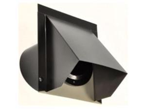 LL Building Products 12WVA4B 4-Inch Round Wall Vent Black Each