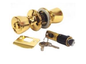 United States Hdwe. D-099B Entry Lockset-PB MOBILE HOM ENTRY LOCK