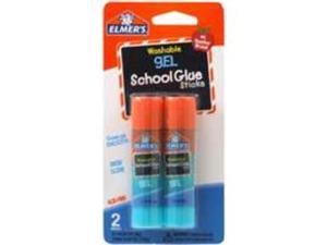 Elmers Washable School Glue Gel Sticks-.28 Ounce 2/Pkg