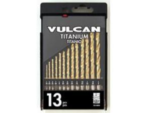 Vulcan 211560OR Titanium Drill Bit Set with Case - 13-Pc