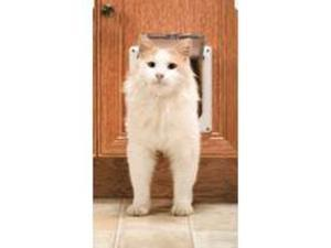 Radio Systems Corp CC10-050-11 Pet Door White 12-Lbs Plastic - 2-Way Cat Flap -